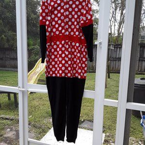 XL Adult Minnie Mouse hooded costume